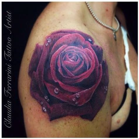 purple and blue rose tattoo 33 awesome purple tattoos images pictures and ideas