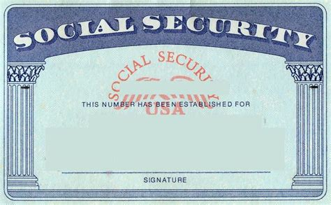 Blank Social Security Card Template blank social security card template social security card
