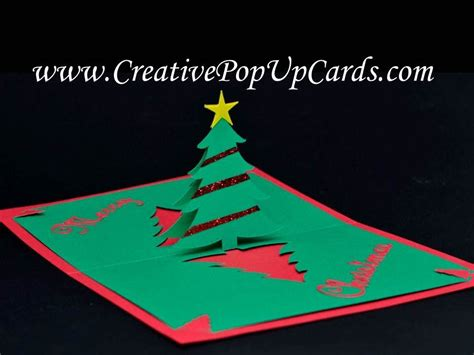 easy up christmas trees easy tree pop up card