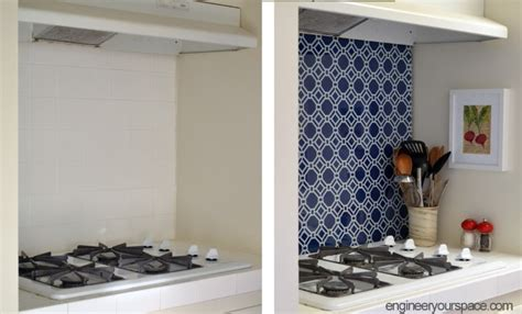 Diy Temporary Kitchen Backsplash 183 Diyer Club Temporary Backsplash Ideas