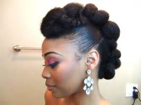 updo faux hawk with twisted front pompadour