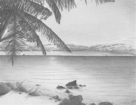 25 sketsa pemandangan alam desa pantai gunung dan air terjun