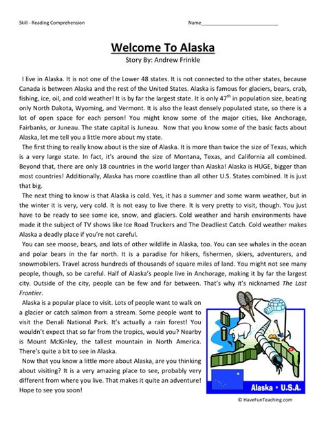 Reading Comprehension Worksheets 4th Grade by Fourth Grade Reading Comprehension Worksheets
