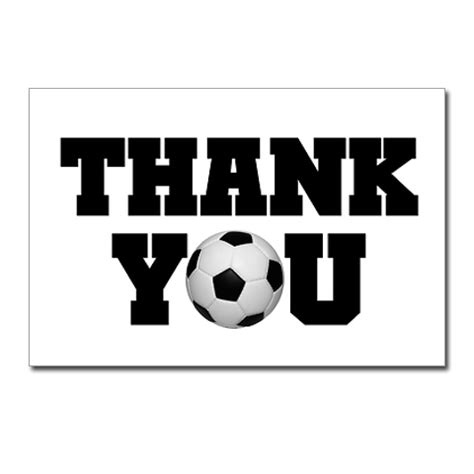 soccer thank you card template football soccer sports