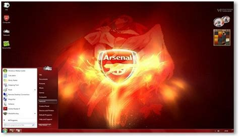 themes liverpool for windows 7 windows 7 themes arsenal fc theme for windows sports