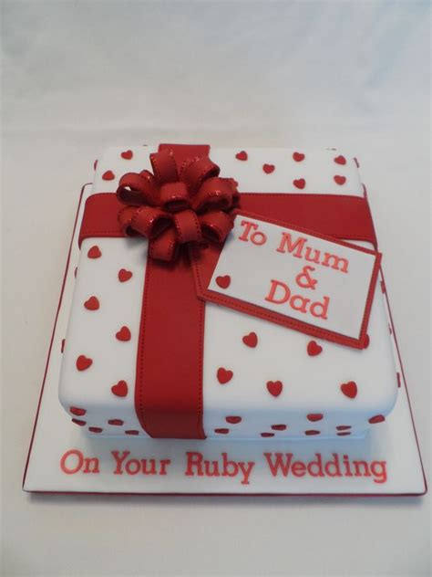 Wedding Anniversary Ruby Ideas by Ruby Wedding Anniversary Cake For All Your Ruby