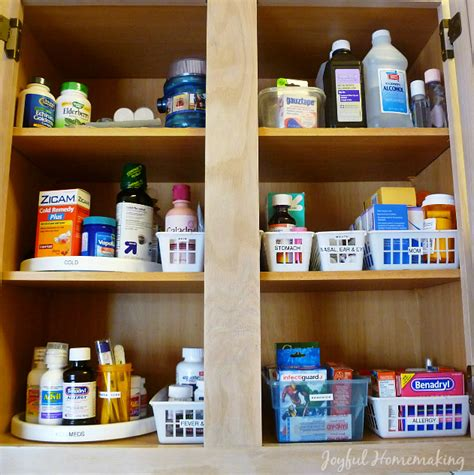 how to organize medicine cabinet kitchen medicine cabinet joyful homemaking