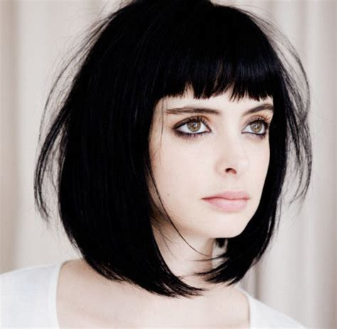 Shoulder Length Black Hairstyles With Bangs by Medium Length Black Bob Hairstyle With Bangs Zestymag