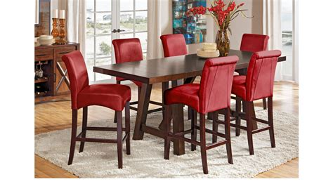 walnut 5 piece counter height dining room set 1549 monarch mango burnished walnut dark brown 5 pc counter height
