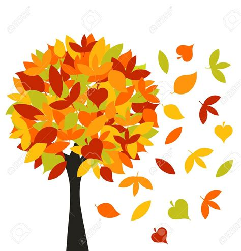 clipart autunno autumn leaves blowing clipart 70