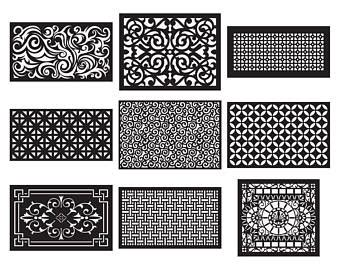 3d Wall Panel Center Table Design Vectors Dxf Files Cnc Router And Laser