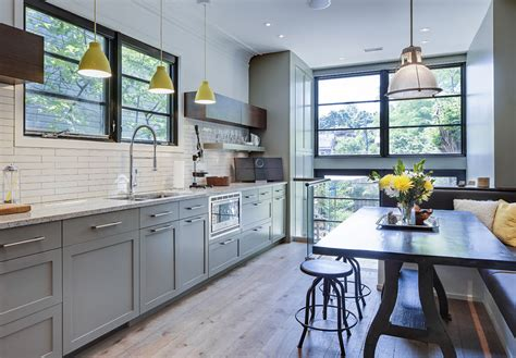 contemporary renovated kitchen   victorian house