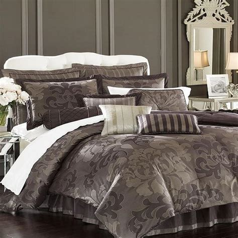 charcoal comforter lenox nolita 4 piece king damask comforter bed in a bag