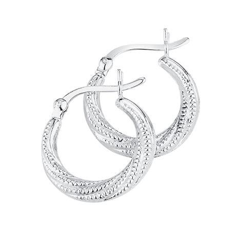 Sterling Silver Hoop Earring hoop earrings in sterling silver
