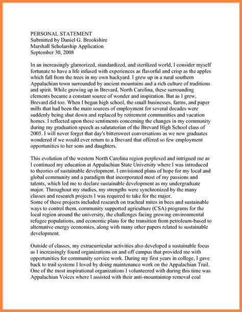 Uw Bothell Mba Review by Personal Statement Format For Scholarship Asli Aetherair Co