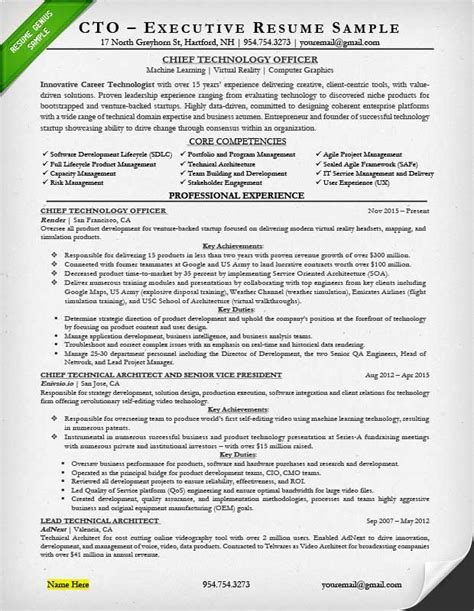 Executive Resume Exles Writing Tips Ceo Cio Cto Executive Resume Template