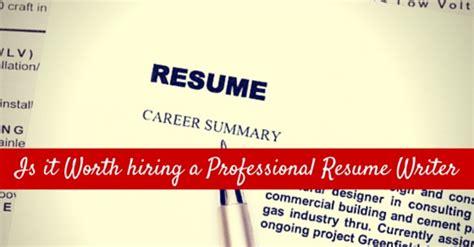 professional resume writer worth it