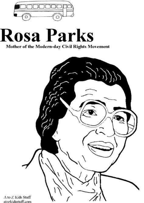 Rosa Parks Coloring Page rosa parks coloring pages and printables coloring pages