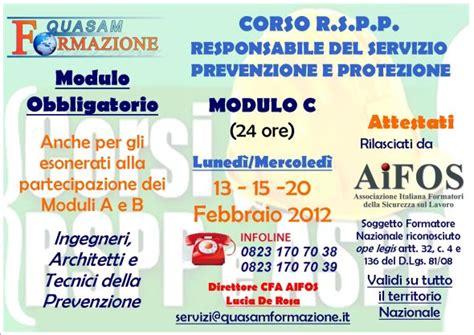 rspp interno o esterno corso rspp responsabile servizio prevenzione protezione