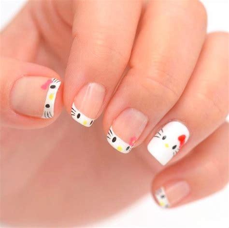 nail art tutorial hello kitty french tips 10 cutest hello kitty nail art ideas for kids at heart