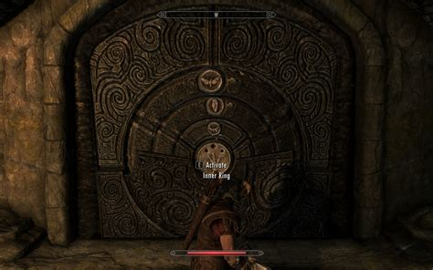 skyrim what combination do you set on the door to open