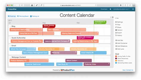Roadmap Template Exles They Re Not Just For Products Content Roadmap Template
