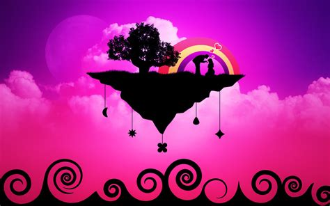 themes love picture download wallpaper 1680x1050 vector love purple theme hd