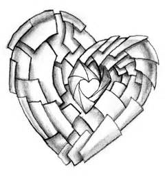 shuttering heart tattoo design by neogzus on deviantart