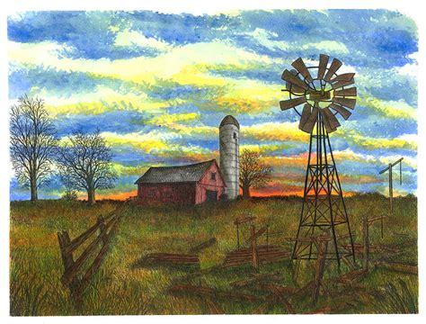 rural ontario farm painting by jonathan baldock
