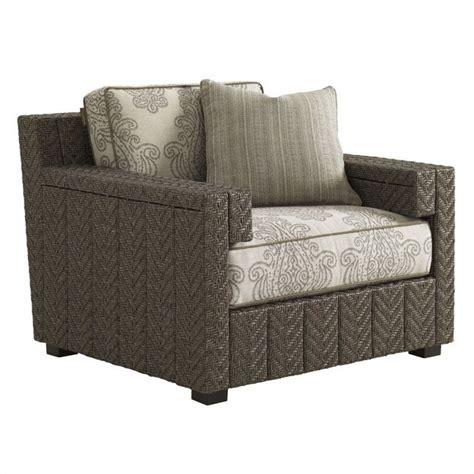 bahama lounge chair bahama home blue olive wicker lounge chair in gray