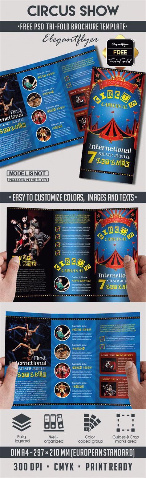Circus Free Psd Tri Fold Psd Brochure Template By Elegantflyer Tri Fold Brochure Template Psd Free