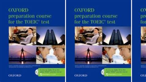 Oxford Preparation Course For Toeic Test oxford preparation course for the toeic test new edition by oxford press on