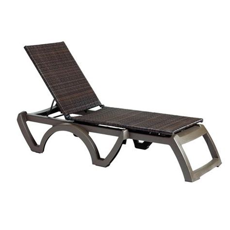Grosfillex Lounge Chairs by Grosfillex Us645237 Java Espresso Bronze Chaise