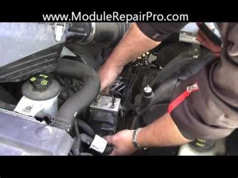 remove abs pump control module ford crown victoria