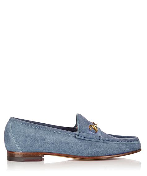 gucci loafers sale gucci s blue suede bit loafers designer