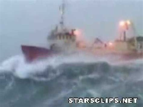 fishing boat in storm video boat in a huge storm at sea youtube