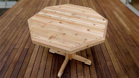 How To Make A Wooden Patio Table Youtube How To Build A Patio Table