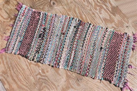 primitive rag rugs woven twined rag rugs farmhouse primitive vintage rug lot from wisconsin farm estate