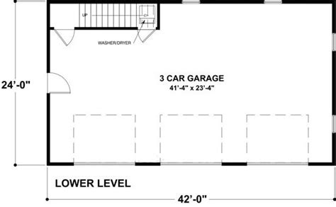 garage floor plans with living quarters studio
