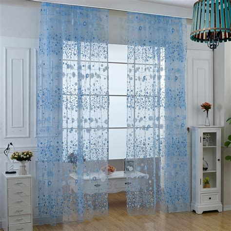 floral window curtains floral tulle voile door 5 colors window curtain drape