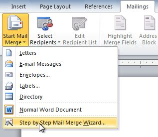 how to create a mail merge template in word 2010 word 2010 using mail merge