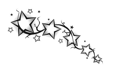 tribal with stars tattoo free coloring pages of different size