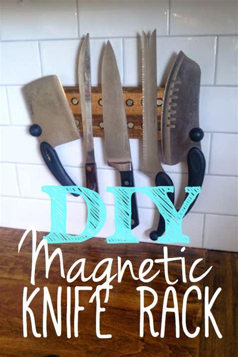 Magnetic Strips For Kitchen Knives make a magnetic knife rack out of scrap wood hometalk