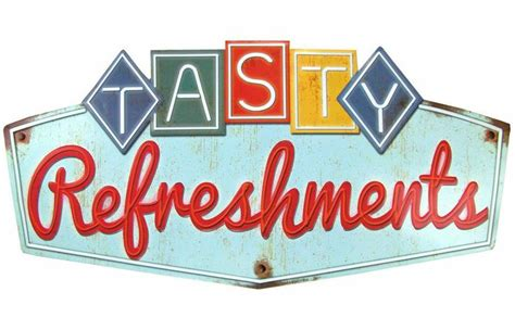 Find Refreshment For Your by Fab Find Retro Collectible Tin Sign Quot Tasty Refreshments