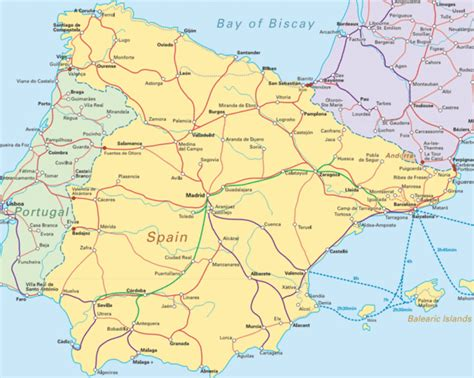 map  northern spain  southern france  travel