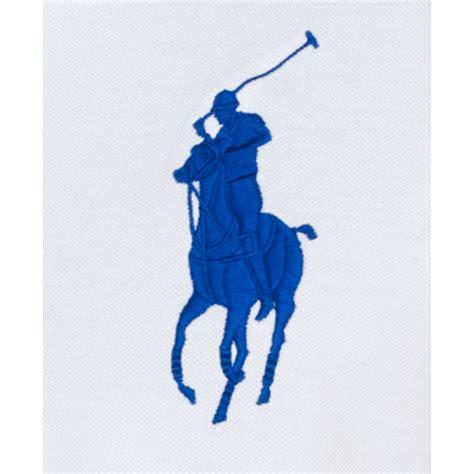 embroidery design ralph lauren polo ralph lauren custom fit big pony mesh polo shirt in