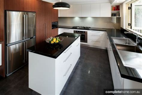 kitchens with black bench tops 1000 images about black bathrooms on pinterest back to