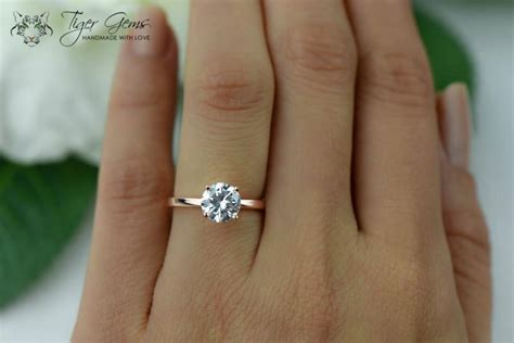 1 5 carat engagement ring solitaire ring made