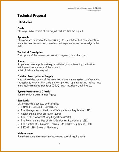 technical approach document template sle technical template resume template sle