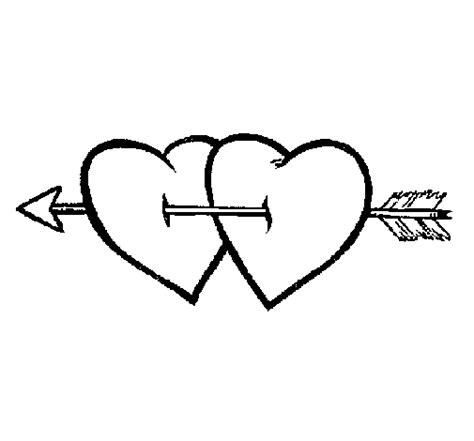 imagenes de corazones con flechas dibujo de dos corazones con una flecha para colorear